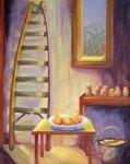 Pear Ladder in Barn