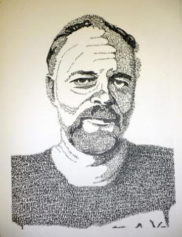 "Travis Trapp ""Portrait of Philip K. Dick"""