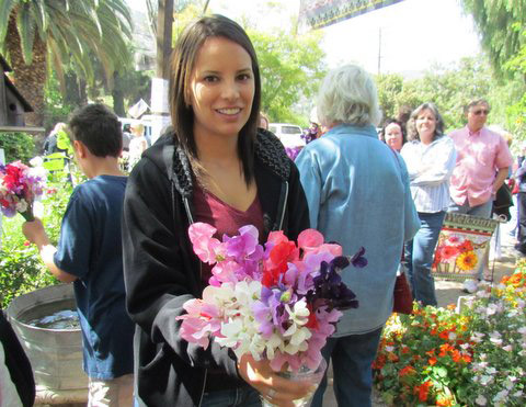Happy bouquet owner