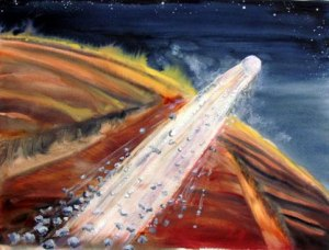 Comet Sliding Spring by Mary P. Williams