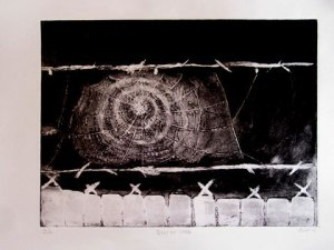 Dew on Web, Etching