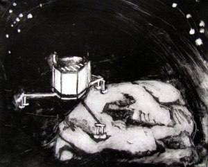 Lander Philae, Etching