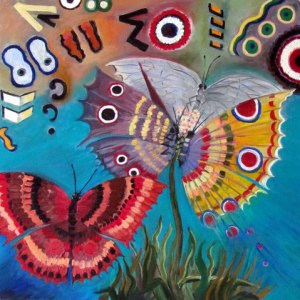 Butterflies II by Mary P Williams
