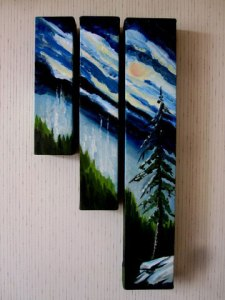 Sierra Triptych by Mary P Williams