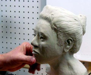 Ray Decautur, Sculpting a female face
