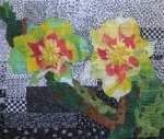 Prickly Pear, an art quilt by Mary Fitzgibbons