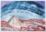 Camping Out on Mars, by Mary P Williams. Framed (metal) with double matting $800