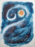 Galaxy, by Mary P Williams. Framed (metal) with double matting $800