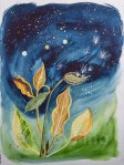 Milkweed to the Stars, by Mary P. Williams. Framed (metal) with double matting $750