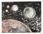 Space, by Mary P Williams. Framed $300