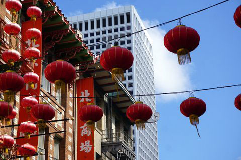 Red Lanterns of San Francisco Chinatown